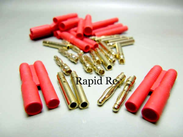 HXT 2mm Gold Connector w/ Protector (10pcs/set)